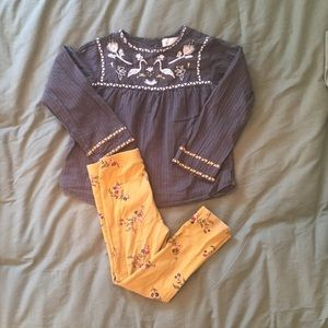 Blouse and leggings outfit